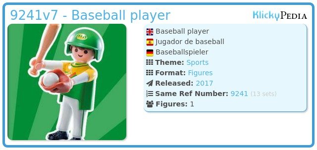 Playmobil 9241v7 - Baseball player