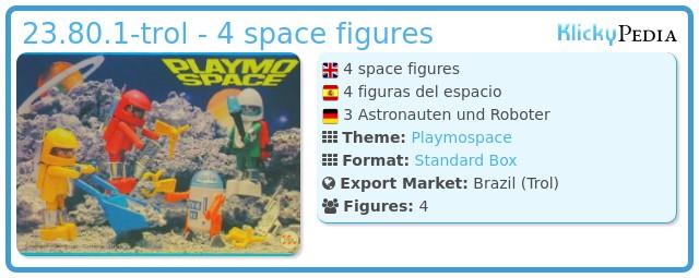 Playmobil 23.80.1-trol - 4 space figures