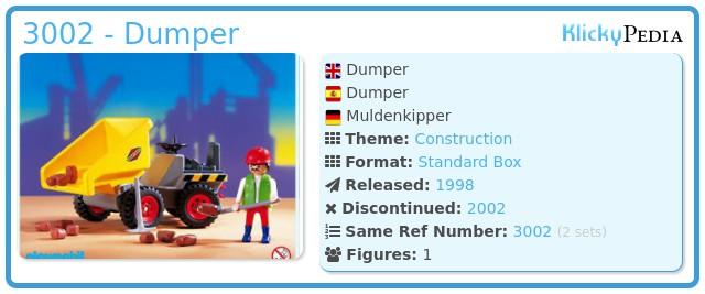 Playmobil 3002 - Dumper