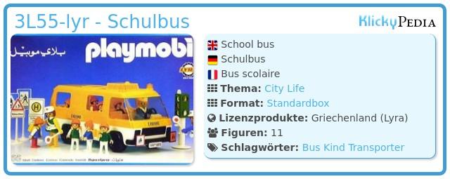 Playmobil 3L55-lyr - Schulbus