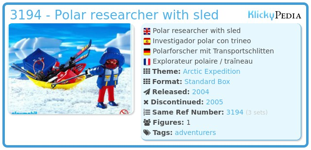 Playmobil 3194 - Polar researcher with sled