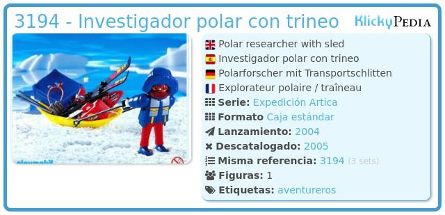 Playmobil 3194 - Investigador polar con trineo