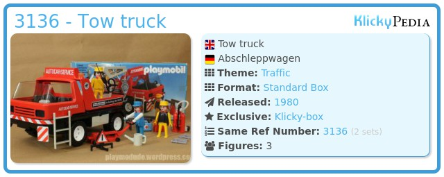 Playmobil 3136 - Tow truck