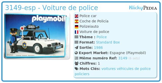 Playmobil 3149-esp - Voiture de police