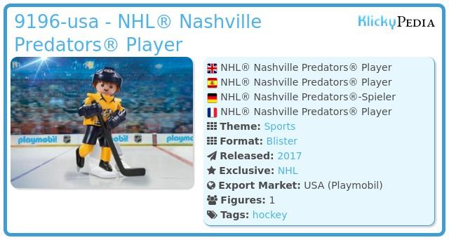 Playmobil 9196-usa - NHL® Nashville Predators® Player