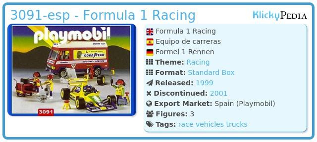 Playmobil 3091-esp - Formula 1 Racing