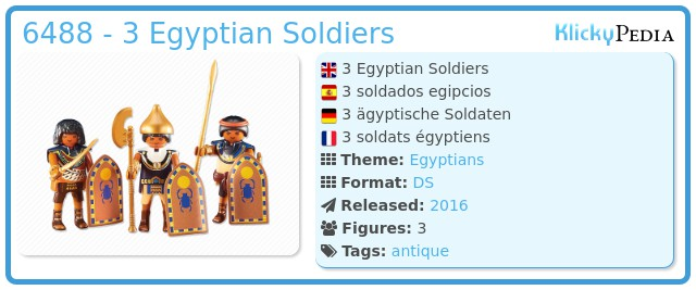 Playmobil 6488 - 3 Egyptian Soldiers