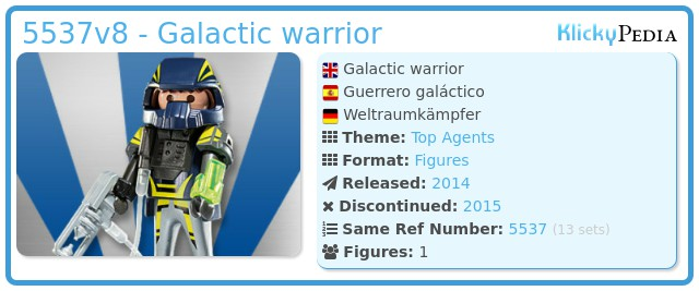 Playmobil 5537v8 - Galactic warrior