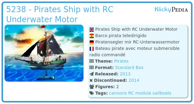 Playmobil 5238 - Pirates Ship with RC Underwater Motor