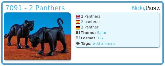 Playmobil 7091 - 2 Panthers