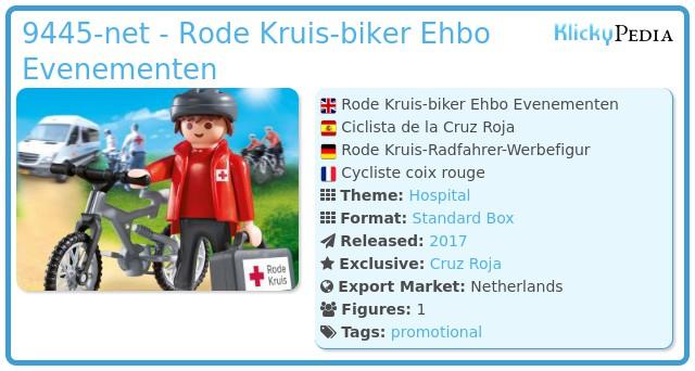 Playmobil 9445-net - Rode Kruis-biker Ehbo Evenementen