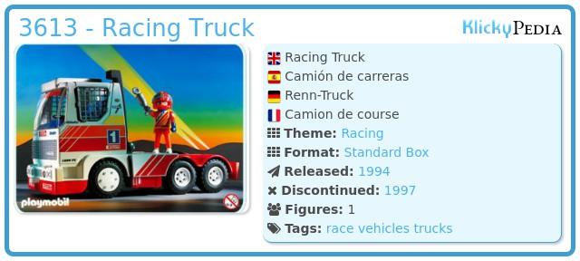 Playmobil 3613 - Racing Truck