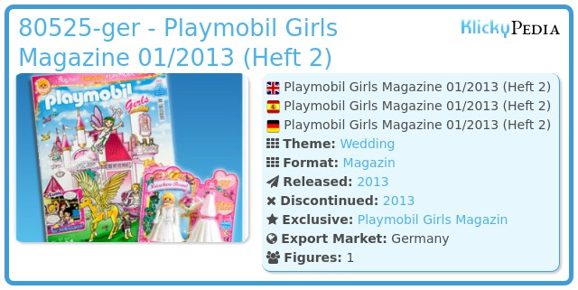 Playmobil 80525-ger - Playmobil Girls Magazine 01/2013 (Heft 2)