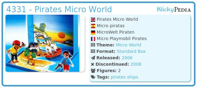 Playmobil 4331 - Pirates Micro World