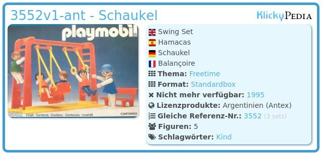 Playmobil 3552v1-ant - Schaukel