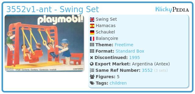 Playmobil 3552v1-ant - Swing Set