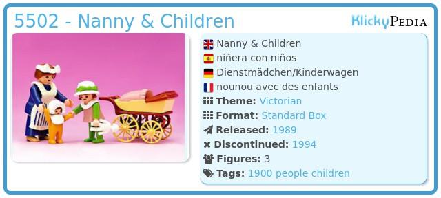 Playmobil 5502 - Nanny & Children