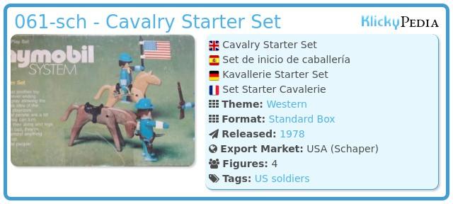 Playmobil 061-sch - Cavalry Starter Set