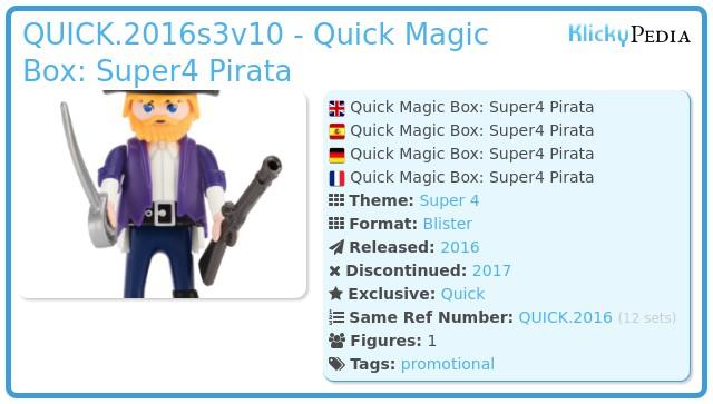 Playmobil QUICK.2016s3v10 - Quick Magic Box: Super4 Pirata