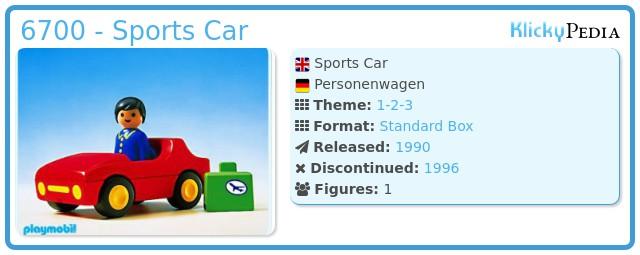 Playmobil 6700 - Sports Car