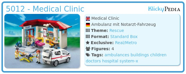 Playmobil 5012 - Medical Clinic