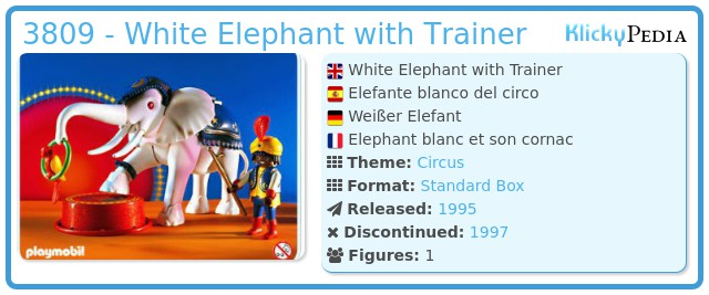 Playmobil 3809 - White Elephant with Trainer