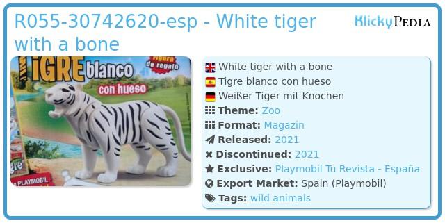 Playmobil R055-30742620 - White tiger with a bone
