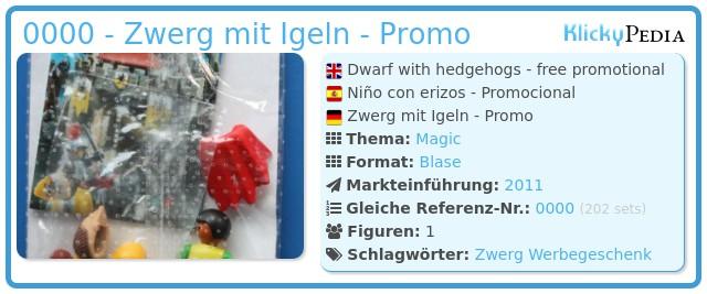 Playmobil 0000 - Zwerg mit Igeln - Promo