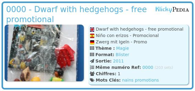 Playmobil 0000 - Dwarf with hedgehogs - free promotional