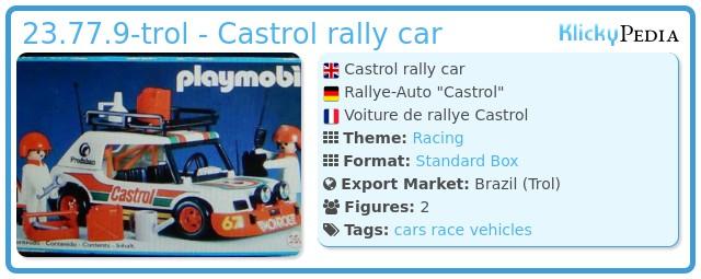 Playmobil 23.77.9-trol - Castrol rally car