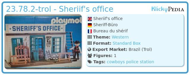 Playmobil 23.78.2-trol - Sheriif's office