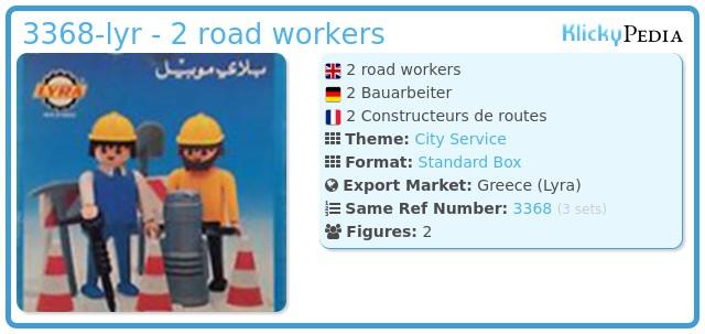 Playmobil 3368-lyr - 2 road workers