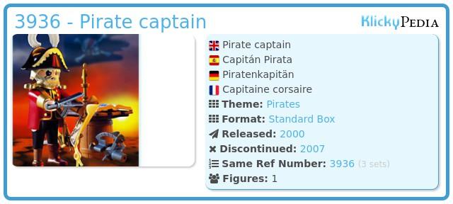 Playmobil 3936 - Pirate captain