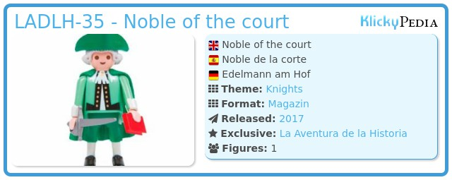 Playmobil LADLH-35 - Noble of the court