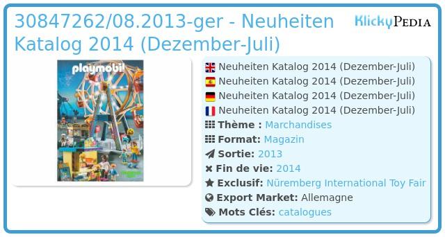 Playmobil 30847262/08.2013-ger - Neuheiten Katalog 2014 (dezember-juli)