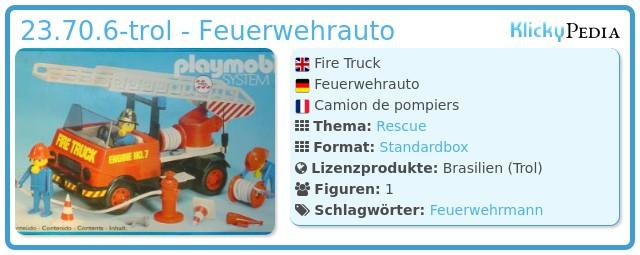 Playmobil 23.70.6-trol - Feuerwehrauto