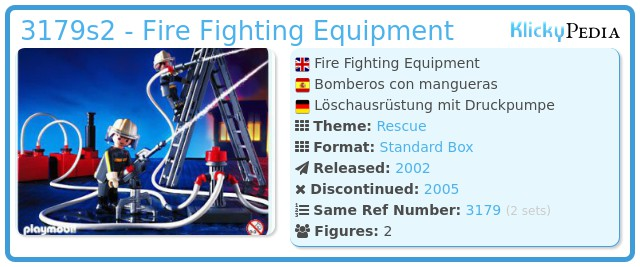 Playmobil 3179s2 - Fire Fighting Equipment