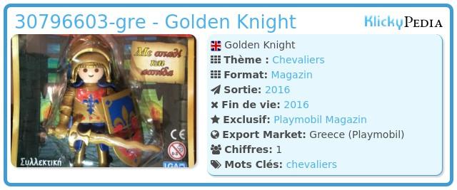 Playmobil 30796603-gre - Golden Knight