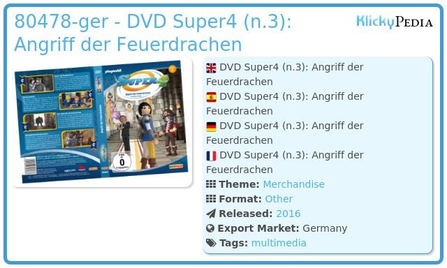 Playmobil 80478-ger - DVD Super4 (n.3): Angriff der Feuerdrachen