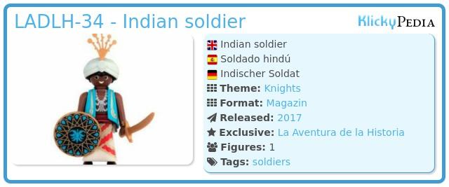 Playmobil LADLH-34 - Indian soldier