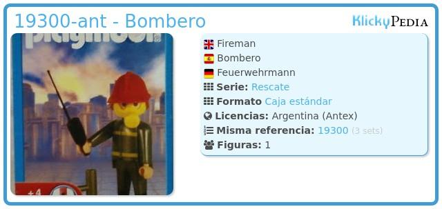 Playmobil 19300-ant - Bombero