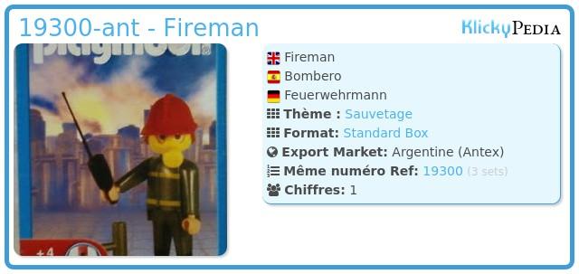 Playmobil 19300-ant - Fireman