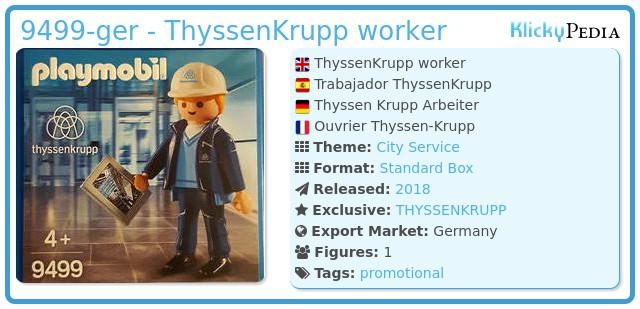 Playmobil 9499-ger - ThyssenKrupp worker