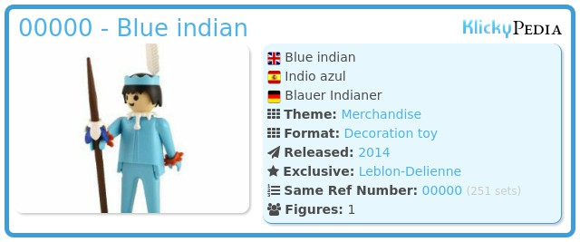 Playmobil 00000 - Blue indian