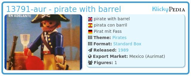 Playmobil 13791-aur - pirate with barrel