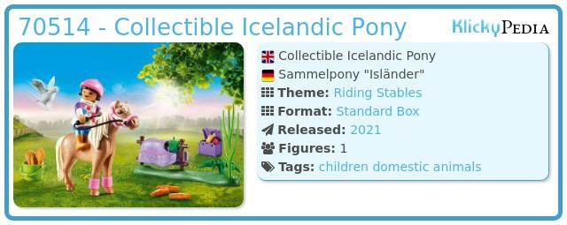 Playmobil 70514 - Collectible Icelandic Pony
