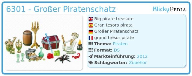 Playmobil 6301 - Großer Piratenschatz