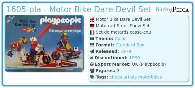 Playmobil 1605-pla - Motor Bike Dare Devil Set