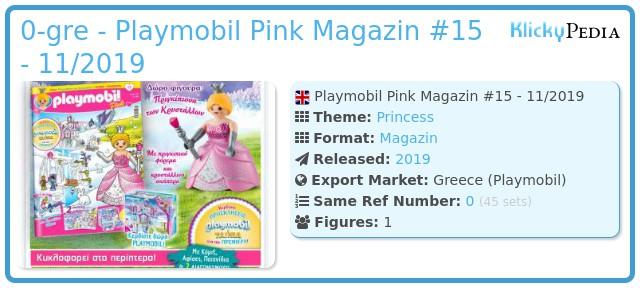 Playmobil 0-gre - Playmobil Pink Magazin #15 - 11/2019