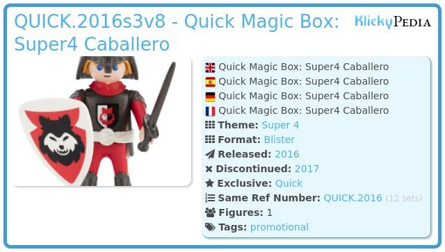 Playmobil QUICK.2016s3v8 - Quick Magic Box: Super4 Caballero